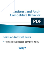 Antitrust and Anti-Competitive Behavior