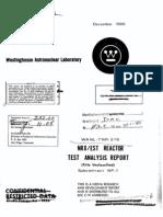 NRX/EST Reactor Test Analysis Report