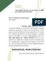 EMBARGOS MONITÓRIOS