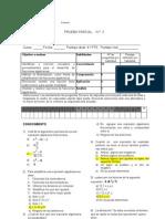 Prueba Parcial de Matematica II Medio,Fracciones Algebraicas Forma A