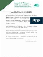 CONSTANCIA DE POSESIÓN