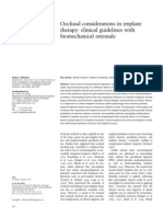Occlusal Considerations in Implant
