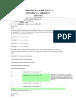 Evaluación Nacional 2013 Herramientas Informaticas