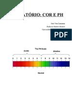 Relatorio Cor e pH