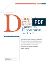 Dificultad Para Recuperar Hippotecas en El Peru