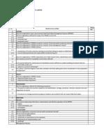 3733 Checklist