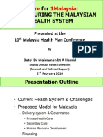 1 Care Plan for 1 Malaysia