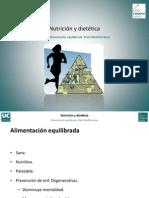 Tema 1. Alimentación equilibrada. Dieta Mediterránea