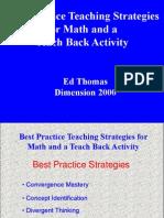 Best Practice Strategies - Math