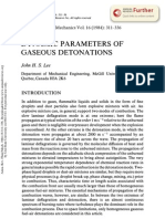 Dynamic Parameters of Gaseous Detonations