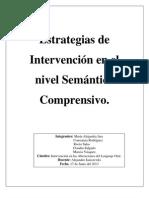 estrategias de intevención en el nivel sermantico comprensivo