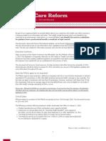 Health Care Reform White Paper