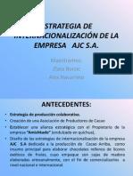 ESTRATEGIA DE INTERNACIONALIZACIÓN DE LA EMPRESA   AJC