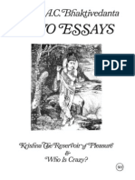 TWO ESSAYS-Krishna the Reservoir of Pleasure-&-Who is Crazy-Book SCAN