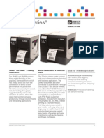 Zebra ZM Series Industrial Printer Datasheet