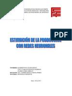 Estimación de la Producción con Redes Neuronales