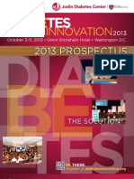 Diabetes Innovation 2013 Prospectus for Exhibitors and Sponsors