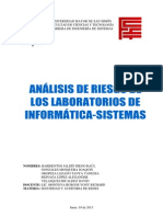 Análisis de Riesgo de los Laboratorios de Informática-Sistemas