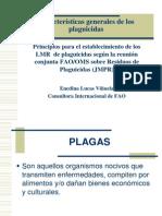 Características generales de los plaguicidas