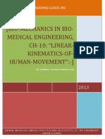 Ch 10, Bio Mechanics in Bio Medical Engineering