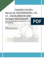 CH 13,On BioMechanics in Bio Medical Engineering