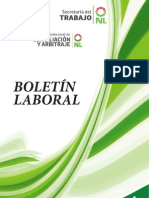 Boletín Laboral de la Junta local de Conciliación y Arbitraje