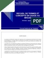 Recueil de Termes Et Concepts Du MHUAE - http://www.metrecarre.ma