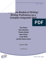 cognitive model of writing