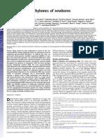 Distinct DNA Methylomes of Newborns and Centenarians