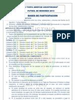 Bases de la XI Copa Amistad de Fútbol de menores 2013