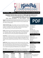 062013 Reading Fightins Game Notes