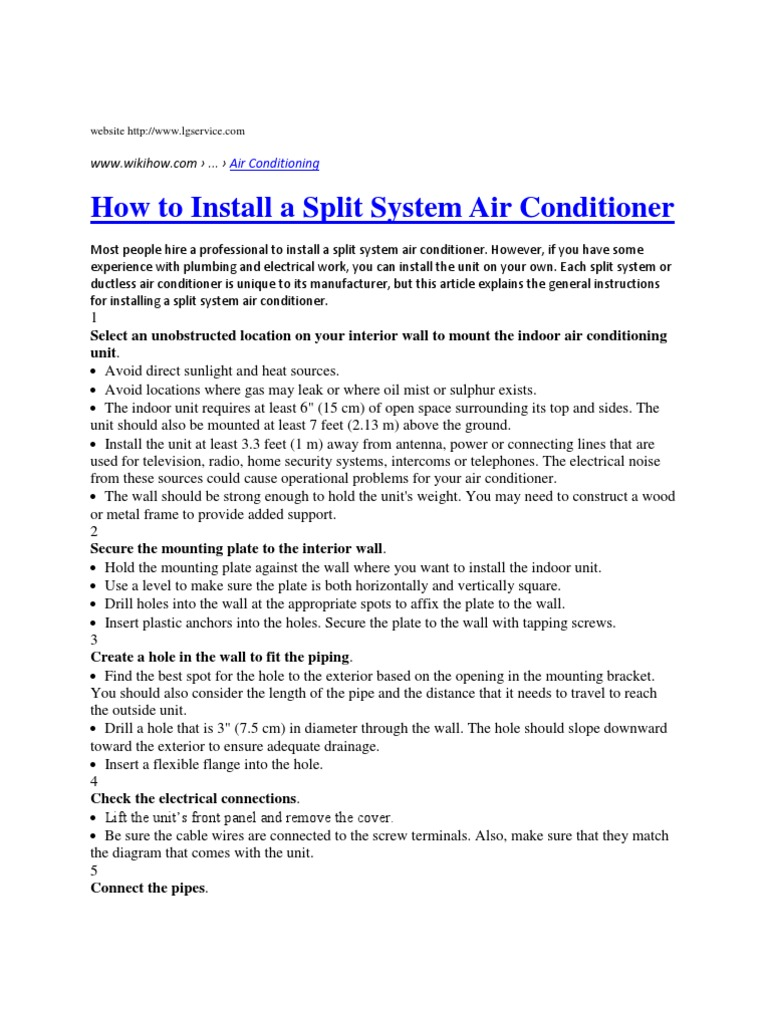 Airconditioner Inst Pipe Fluid Conveyance Air Conditioning Ductless Wiring Diagram