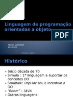 Linguagem de orientação orientadas a objeto
