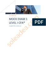 Soleadea Mock Exam 1 Level I CFA