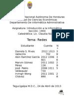 Informe REDES (Introduccion a La Informatica UNAH)