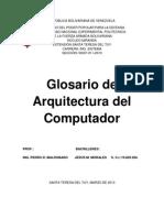 Glosario de Arquitectura Del Computador