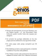 MINIGENIOS DE LAS LETRAS