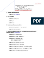 Niagara Falls School Board agenda - June 20, 2013