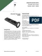 Lamparas de Prueba Ultravioleta W8066,W867,W868