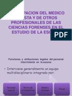 Participacion Del Medico Legista y de Otros Profesionales