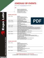 Expo Labrador 2013 Schedule of Events