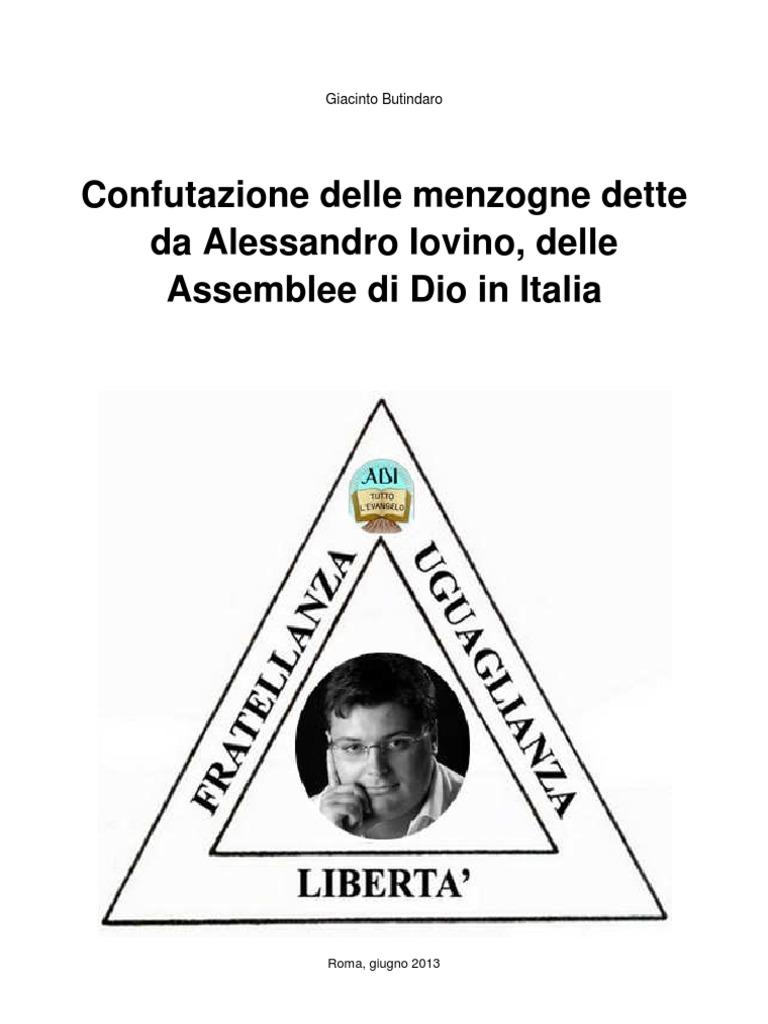 Confutazione Delle Menzogne Dette Da Alessandro Iovino Delle