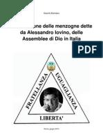 Confutazione delle menzogne dette da Alessandro Iovino, delle Assemblee di Dio in Italia