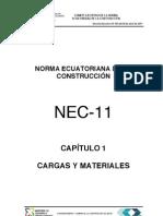 Nec2011 Cap.1 Cargas y Materiales 021412
