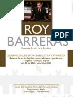 Informe Gestion Roy Barreras Pdte Senado