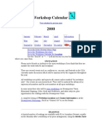 workshop calendar 2000