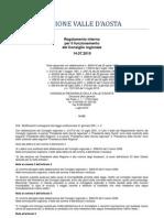 50. Regolamento Interno Consiglio Valle d'Aosta 14.07.2010 - Note