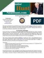 Senator Neal Hunt - June Legislative Newsletter
