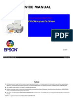 Epson Stylus Color 460 Service Manual