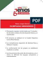 OLIMPIADAS DE MINIGENIOS